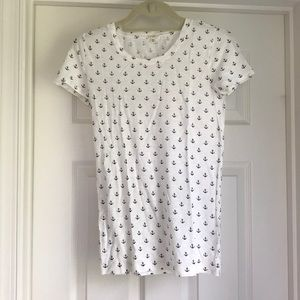 J crew anchor print t-shirt